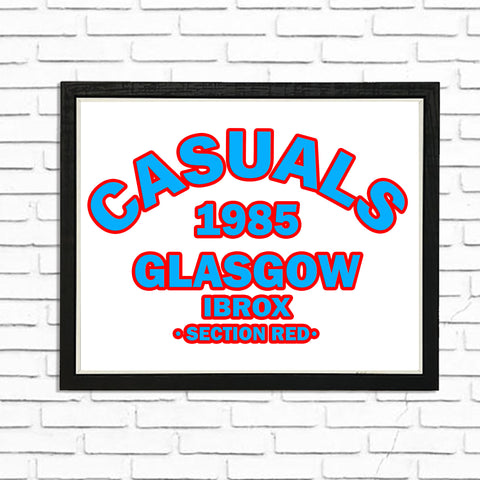 Casuals Section Red  - (A4) Framed Poster