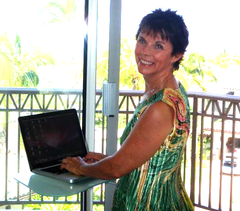 Dr. Dean working at her home in Maui