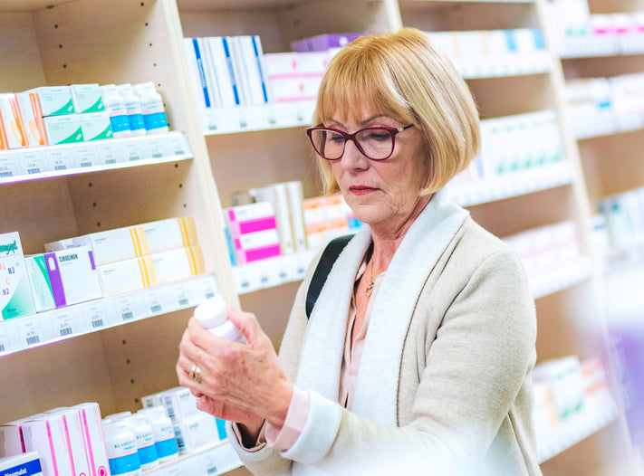 Woman shopping for magnesium