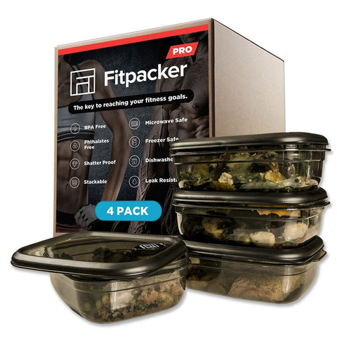 Fitpacker PRO (4 Container) Meal Prep Container