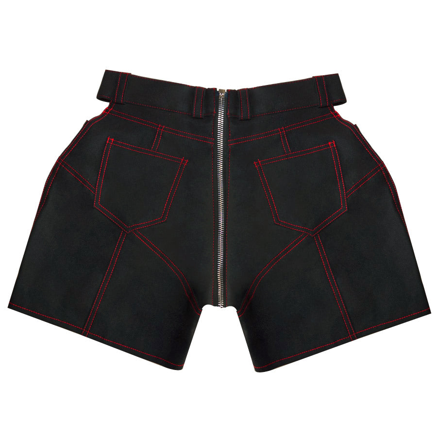 Black Paneled Shorts - UTIERRE