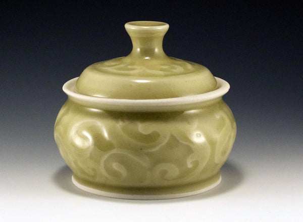 Yellow Green Celadon Jar