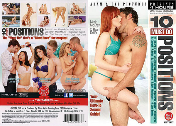 10 Must Do Positions - Adam & Eve 4 Hours Adult DVD (Free Shipping)