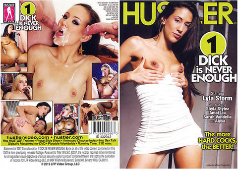 1 Dick Is Never Enough - Hustler Adult DVD (Free Shipping)
