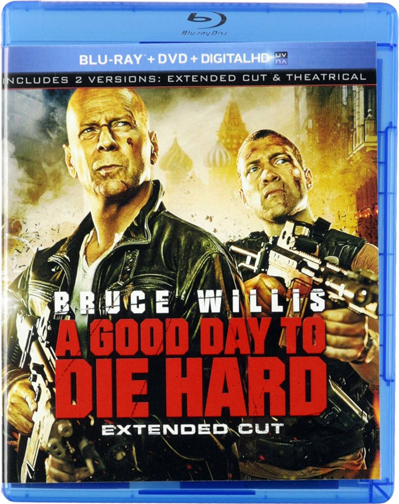 A Good Day To Die Hard Extended Cut Blu-ray + DVD + Digital HD (2-Disc Set) (Free Shipping)