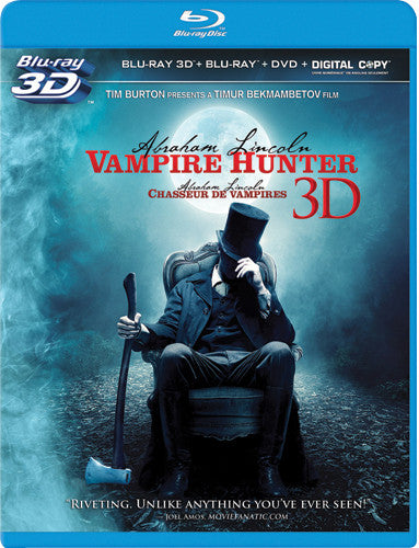 Abraham Lincoln: Vampire Hunter Blu-ray 3D / Blu-ray / DVD / Digital Copy (Free Shipping)