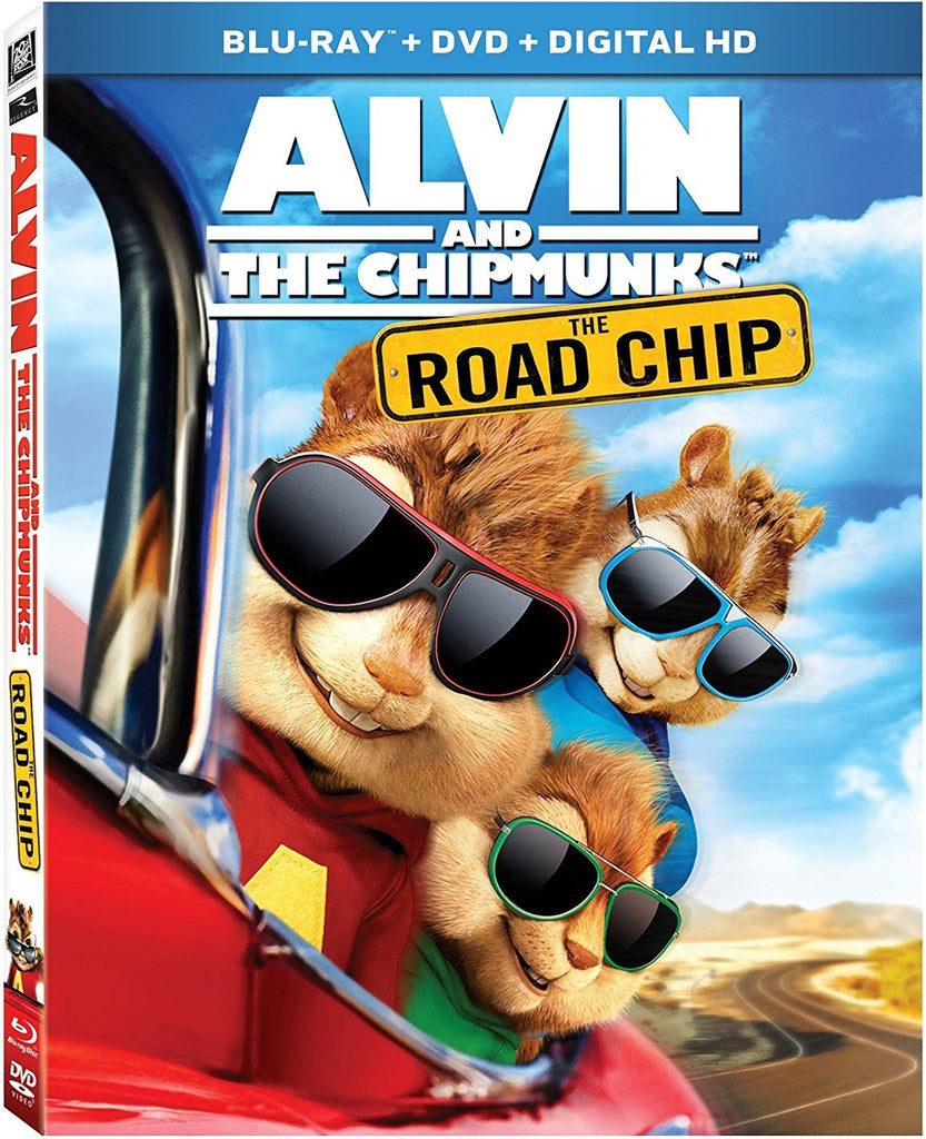 Alvin And The Chipmunks - The Road Chip Blu-ray + DVD+ Digital HD (Free Shipping)