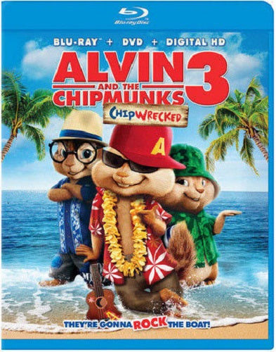Alvin And The Chipmunks 3 - Chipwrecked Blu-ray + DVD + Digital Copy (2-Disc Set) (Free Shipping)