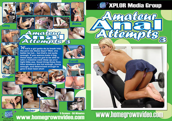 Amateur Anal Attempts 3 - Adult DVD (Free Shipping)