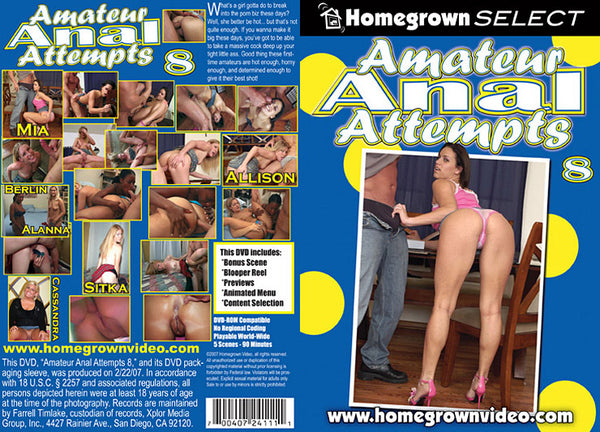 Amateur Anal Attempts 8 - Adult DVD (Free Shipping)