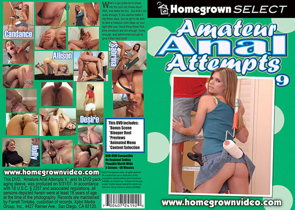 Amateur Anal Attempts 9 - Adult DVD (Free Shipping)