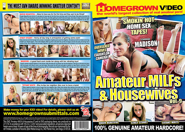 Amateur MILFs & Housewives 9 - Adult DVD (Free Shipping)