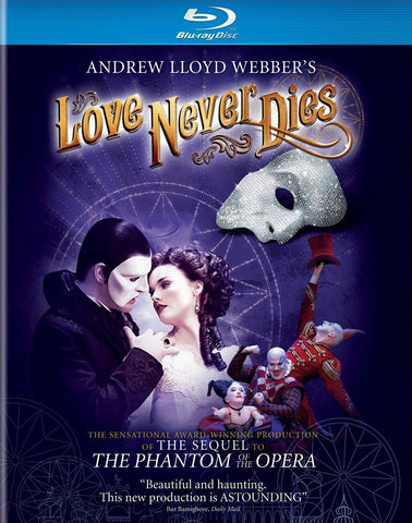 Andrew Lloyd Webber's Love Never Dies Blu-Ray (Free Shipping)