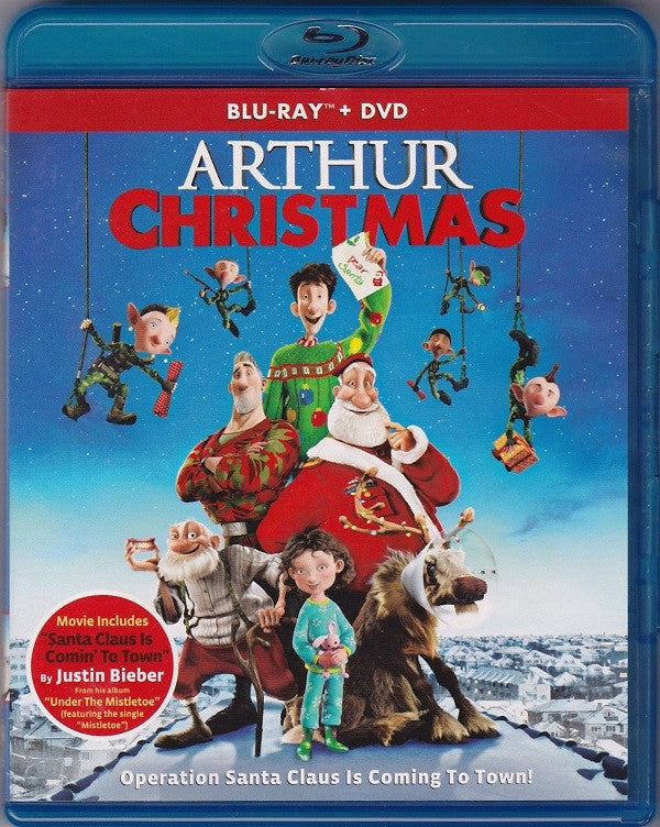 Arthur Christmas Blu-Ray + DVD + UltraViolet (2-Disc Set) (Free Shipping)