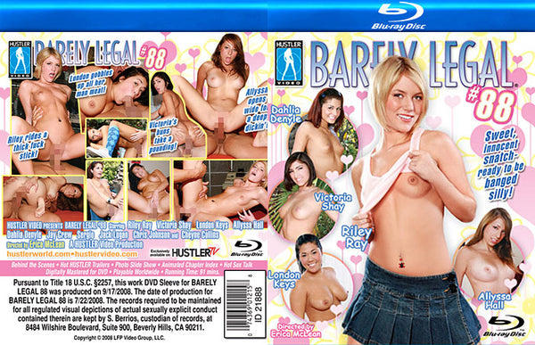 Barely Legal 88 - Hustler Adult Blu-Ray (Free Shipping)