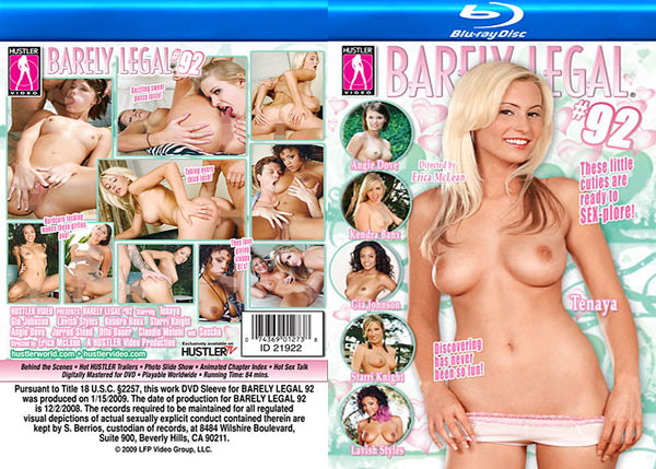 Barely Legal 92 - Hustler Adult Blu-Ray (Free Shipping)