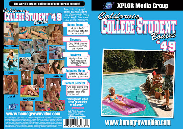 California College Student Bodies 49 - Adult DVD (Free Shipping)