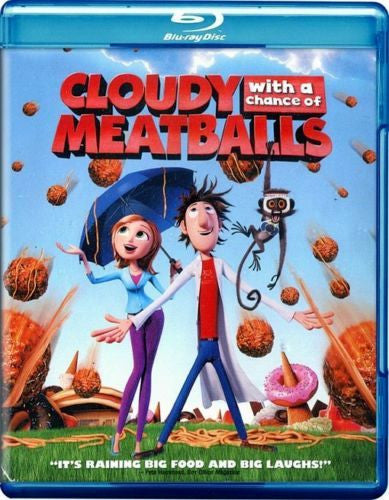 Cloudy With A Chance Of Meatballs Blu-Ray (Free Shipping)