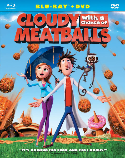 Cloudy With A Chance Of Meatballs Blu-Ray + DVD (2-Disc Set) (Free Shipping)