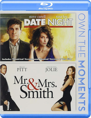 Date Night / Mr. & Mrs. Smith Double Feature Blu-Ray (Free Shipping)