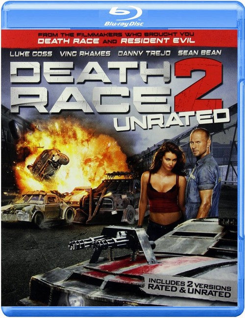 Death Race 2 Blu-ray + DVD + Digital Copy (2-Disc Set Rated / Unrated) (Free Shipping)