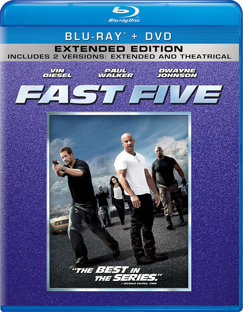 Fast Five Blu-Ray + DVD + Digital Copy (2-Disc Extended Edition) (Free Shipping)