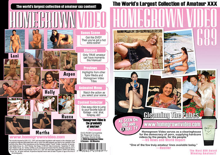 Homegrown Video 689 - Adult DVD (Free Shipping)