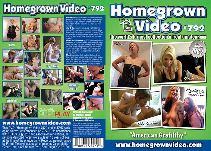 Homegrown Video 792 - Adult DVD (Free Shipping)