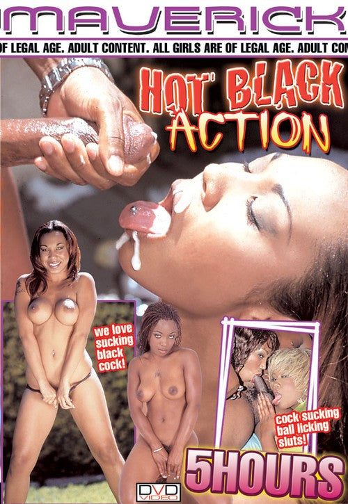 Hot Black Action DVD (5 Hours Black Adult) (Free Shipping)