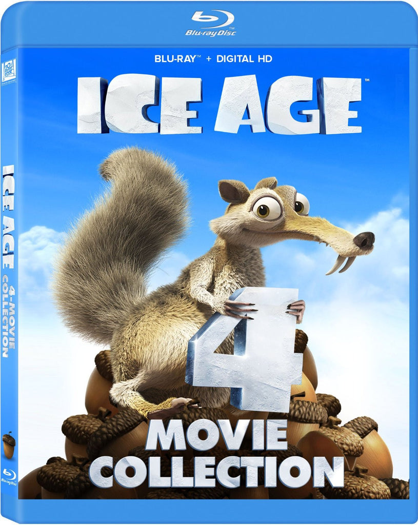 Ice Age 4-Movie Collection Blu-Ray + Digital HD (4-Disc Set) (Free Shipping)
