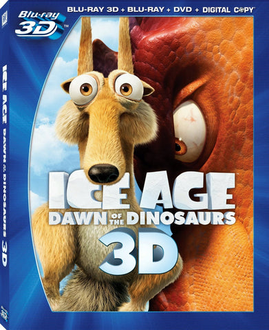 Ice Age: Dawn Of The Dinosaurs 3D Blu-ray + Blu-ray + DVD + Digital Copy (4-Disc Set) (Free Shipping)