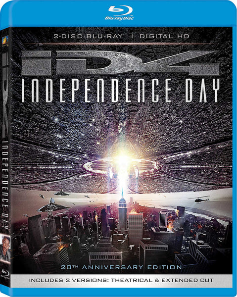 Independence Day 20th Anniversary Blu-Ray + Digital HD (2-Disc Set) (Free Shipping)
