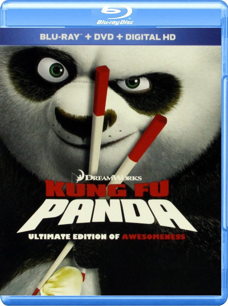 Kung Fu Panda - Ultimate Edition Of Awesomeness Blu-Ray + DVD + Digital HD (3-Disc Set) (Free Shipping)