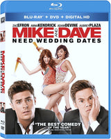 Mike And Dave Need Wedding Dates Blu-Ray + DVD + Digital HD (2-Disc Set) (Free Shipping)