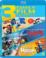 Rio / Robots / Horton Hears A Who - 3 Family Film Favorites Blu-Ray (Free Shipping)