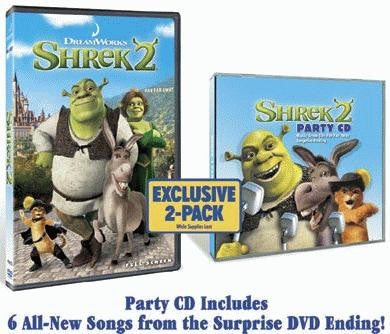 Shrek 2 DVD / Shrek 2 Party CD (Widescreen) (Free Shipping)