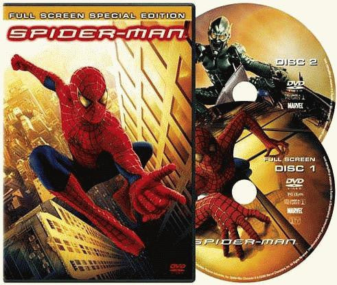 Spider-Man DVD (Fullscreen Special Edition) (Free Shipping)