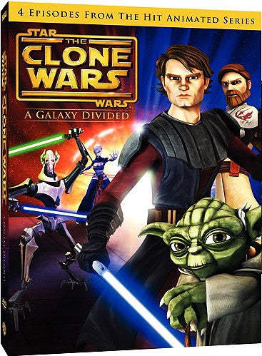 Star Wars - The Clone Wars - A Galaxy Divided DVD (Free Shipping)