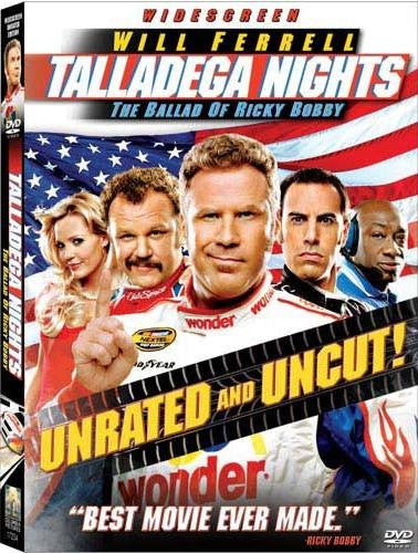Talladega Nights - The Ballad Of Ricky Bobby DVD (Widescreen) (Free Shipping)