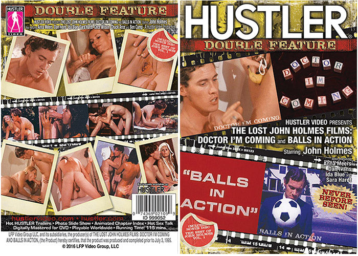 The Lost John Holmes Films: Doctor I'm Coming And Balls In Action - Hustler Adult DVD (Free Shipping)