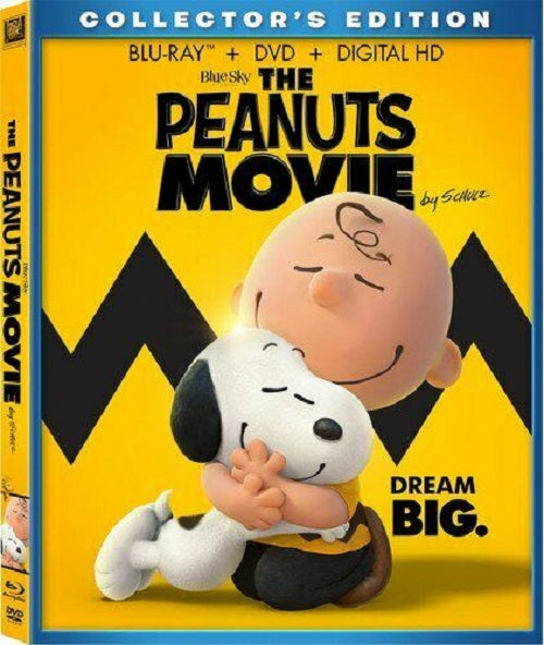 The Peanuts Movie Blu-ray + DVD +  Digital HD 2-Disc Set with Slip Cover (Free Shipping)