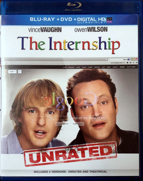 The Internship Blu-Ray + DVD + Digital HD with UltraViolet (2-Disc) (Free Shipping)