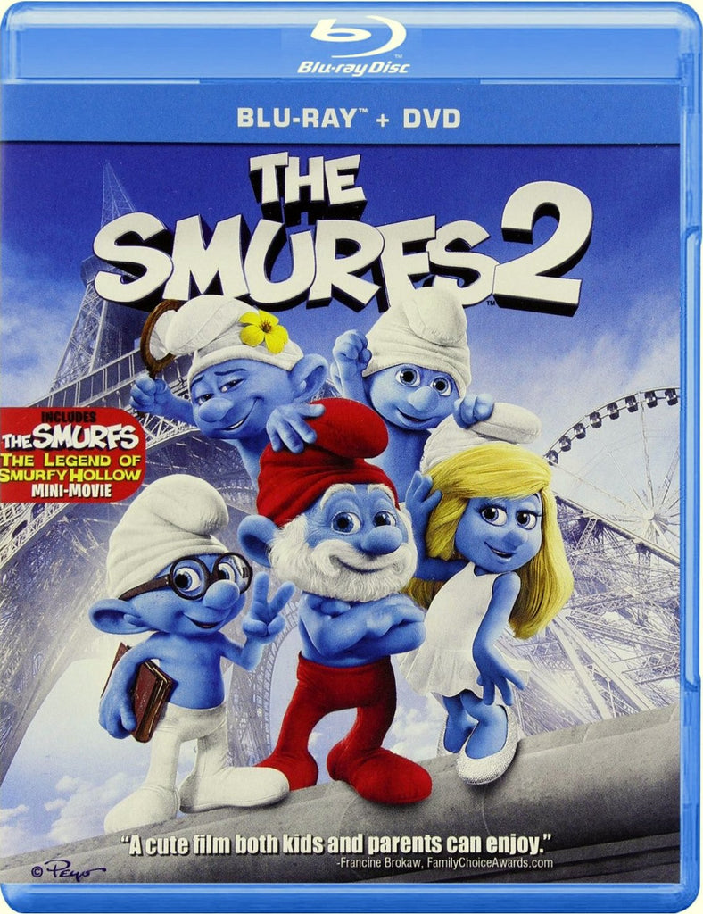 The Smurfs 2 Blu-Ray + DVD + UltraViolet (2-Disc Set) (Free Shipping)
