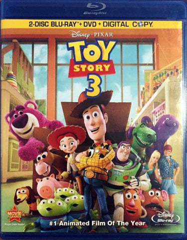 Toy Story 3 Blu-Ray + DVD + Digital Copy (4-Disc Combo Pack) (Free Shipping)