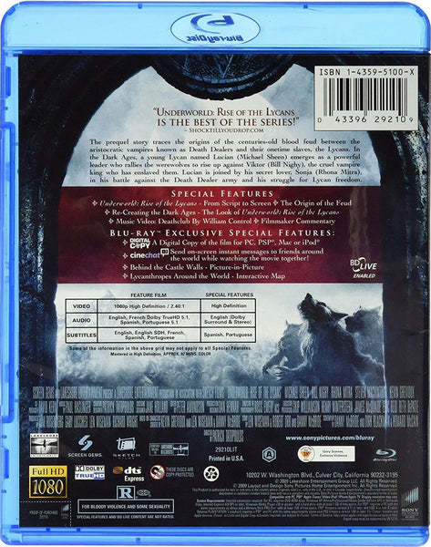 Underworld - Rise Of The Lycans Blu-Ray + Digital Copy (2-Disc Set) (Free  Shipping)