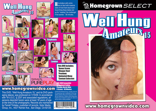 Well Hung Amateurs 15 - Adult DVD (Free Shipping)