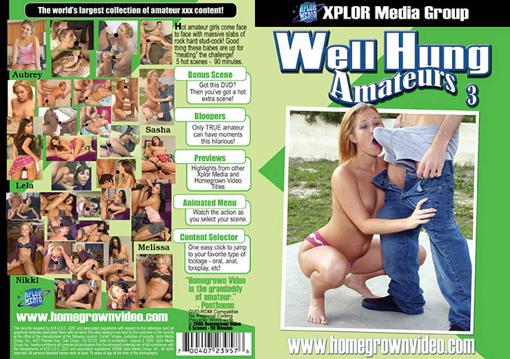 Well Hung Amateurs 3 - Adult DVD (Free Shipping)