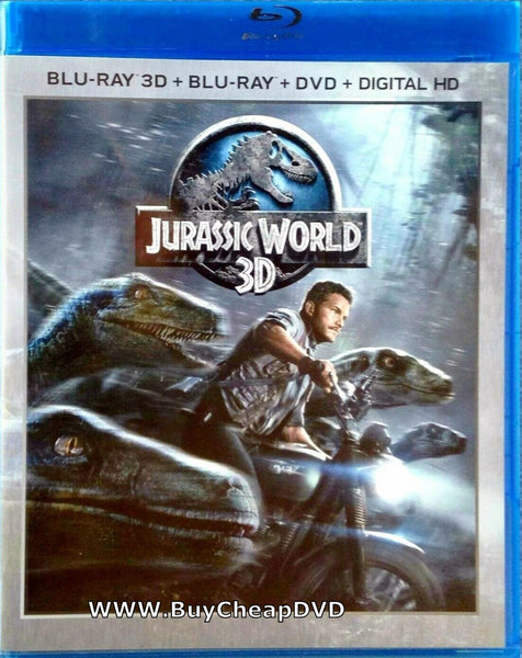 Jurassic World 3D Blu-ray + DVD + Digital Copy 3-Disc (Free Shipping)