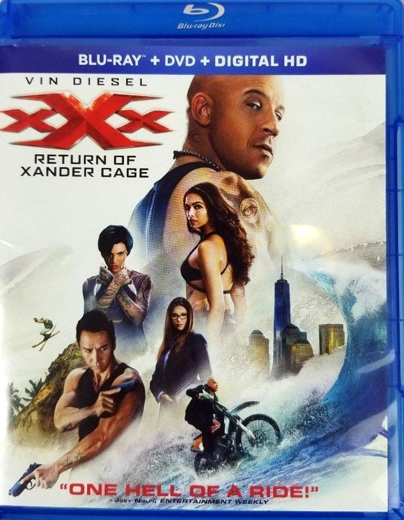 xXx - Return of Xander Cage Blu-Ray + DVD + Digital HD (2-Disc Set) (Free Shipping)