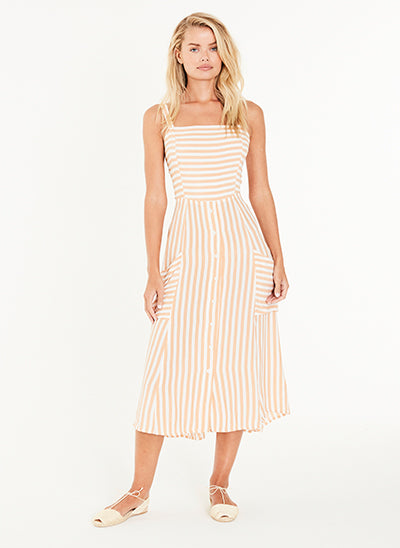 KAYA MIDI DRESS ZEUS STRIPE